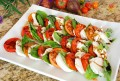 SChef Miyoko chinner's Caprese Salad with Homemade Vegan Fresh Mozzarella