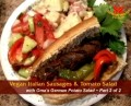 Chef & Author Marilyn Peterson's Vegan Antipasto, Pimento Vegan Cream Cheese & Zucchetti Marinara