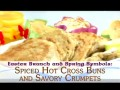 Easter Brunch and Spring Symbols: Spiced Hot Cross Buns and Savory Crumpets (In German)